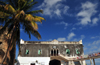 Stone Town, Zanzibar, Tanzania: Forodhani Orphanage, sky and the Old Fort - Mizingani road - photo by M.Torres