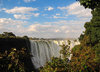 Victoria Falls, Matabeleland North, Zimbabwe: Victoria Falls aka Mosi-oa-Tunya - the crest - 1 708 meters wide, the largest curtain of water in the world - drops between 90m and 107m into the Zambezi Gorge - Victoria Falls National Park - UNESCO World Heritage Site - photo by M.Torres