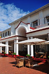 Victoria Falls, Matabeleland North, Zimbabwe: Victoria Falls Hotel - Stanley's Terrace, famous for its traditional high tea - photo by M.Torres