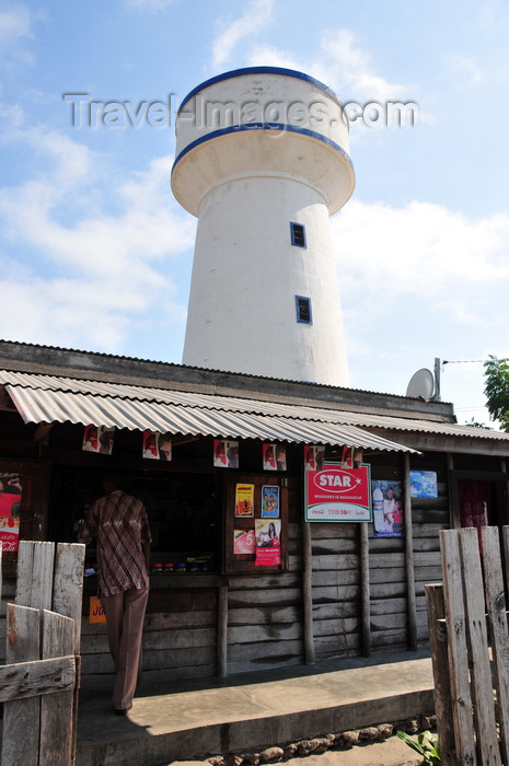 madagascar108: Morondava - Menabe, Toliara province, Madagascar: shop and water tower - photo by M.Torres - (c) Travel-Images.com - Stock Photography agency - Image Bank
